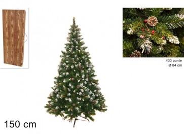 Albero di natale pino rustico art.oq50e-r433c 150cm