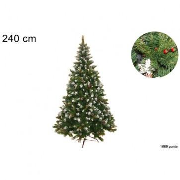 Albero natale pino rustico rami 1669c 240 cm folto