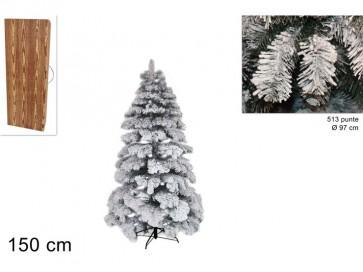 Albero di natale abete snow 150 cm