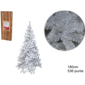 Albero natale abete bianco h. 180 536 rami addobbi natalizi