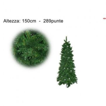 Albero natale verde abete slim 150 cm addobbi natalizi