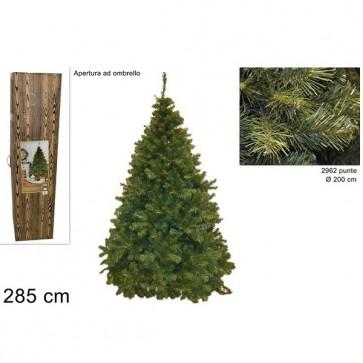 Albero natale 285 cm pino paris super folto realistico apertura ad ombrello