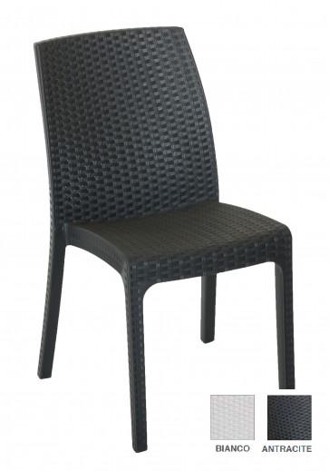 Pz 4 - sedia poltrona da esterno x giardino 47x59x86h cm antracite