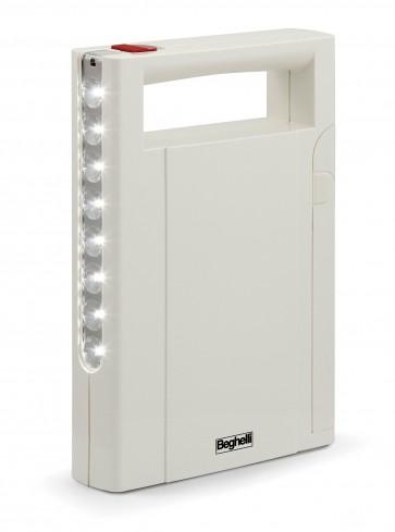 Beghelli lampada emergenza portatile 'illumina led' ricaricabile 8 led