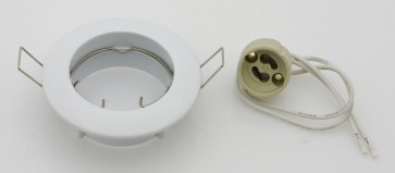 Faretto da incasso orientabile x led gu10 bianco