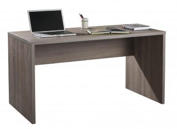 Scrivania ufficio casa rettangolare cm 74x138x69 legno rovere tartufo