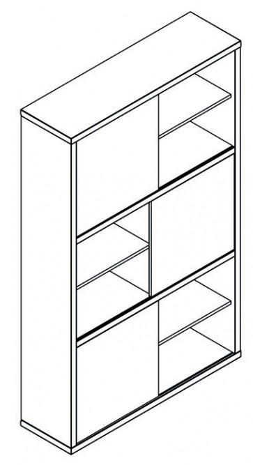 Pratico libreria cm 35,5x120x194,5h