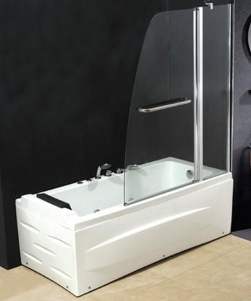 Box parete a 2 ante per vasca da bagno con vetro trasparente 6mm stile moderno