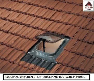 Lucernario tetto finestra moderno zincato tegole piane in cemento cupola 45x57