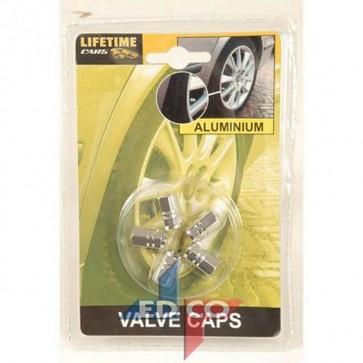 Valvole x gomme auto x5 pz in alluminio tappini per pneumatici