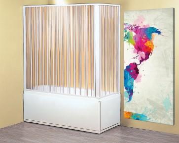 Box parete vasca a soffietto doccia 2 lati cm 70x170-150 150h