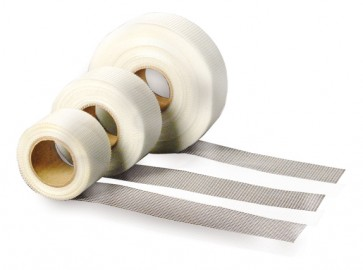 Pz 36 -  nastro di rete adesiva tappacrepe fibra di vetro 20mt