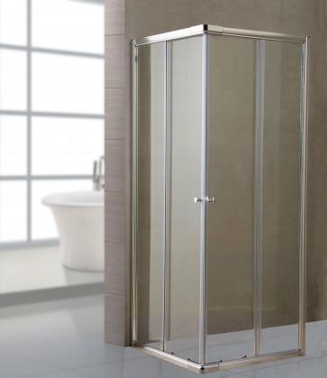 Box doccia cabina angolare cristallo trasparente mm 6 cm 80x100 h185 scorrevole