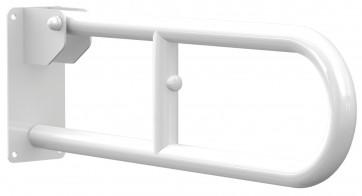 Maniglione barra ribaltabile da muro per disabili 30 cm in acciaio