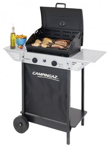 Barbecue a gas Campingaz a pietra lavica con ruote termometro fornello laterale