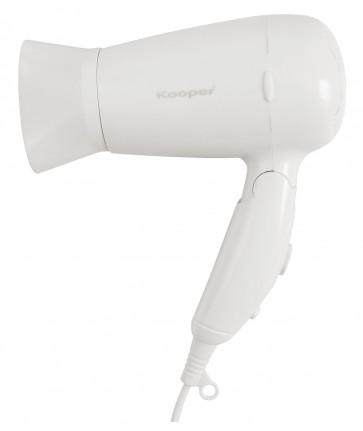 Asciugacapelli portatile da viaggio 1200 w bianco 2 livelli potenza