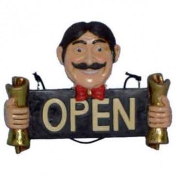 Insegna bar cm.31 aperto open pub bar pizzeria locale ristorante tavernetta