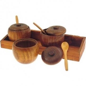Porta spezie set 3 pezzi cm.30x11x4 cucina casa accessori