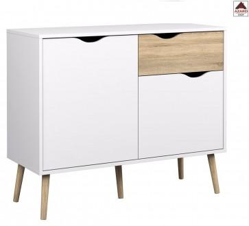 Credenza moderna bianca madia kit mobile cucina buffet 2 ante design soggiorno