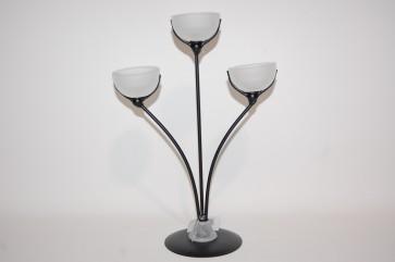 Porta candele in vetro 31 cm decorazione casa ambiente tealight