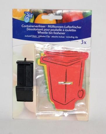 Profumatore per ambiente set 3 pz con clip limone mela 7x8 cm