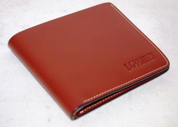Portafoglio classico in pelle marrone chiaro cm 12x10 scomparti 7 boss anjerasu