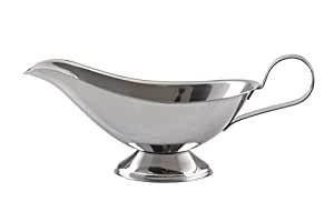 Salsiera in metallo vintage cm.20 recipiente cucina tavola ristorante bar pub