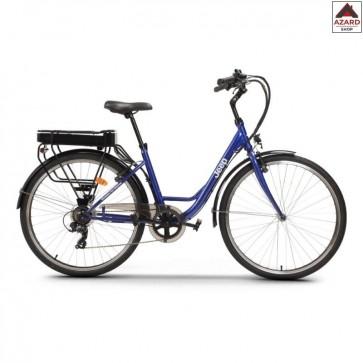 Bicicletta elettrica 250w bici donna 28 acciaio blu Jeep city E-Bike 7 marce
