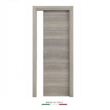 Porta scorrevole a scomparsa 80x210 legno mdf da interno muro rovere grigio