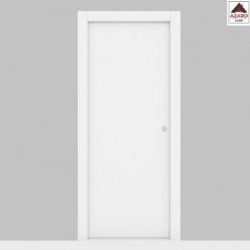 Porta scorrevole a scomparsa 70x210 in legno mdf da interno muro liscia bianca