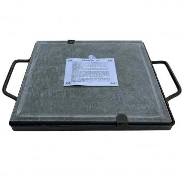 Pietra piastra ollare lavica per barbecue 30x40 cm in pietra naturale con telaio
