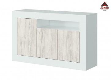 Credenza moderna bianca madia soggiorno mobile salotto buffet in legno 3 ante