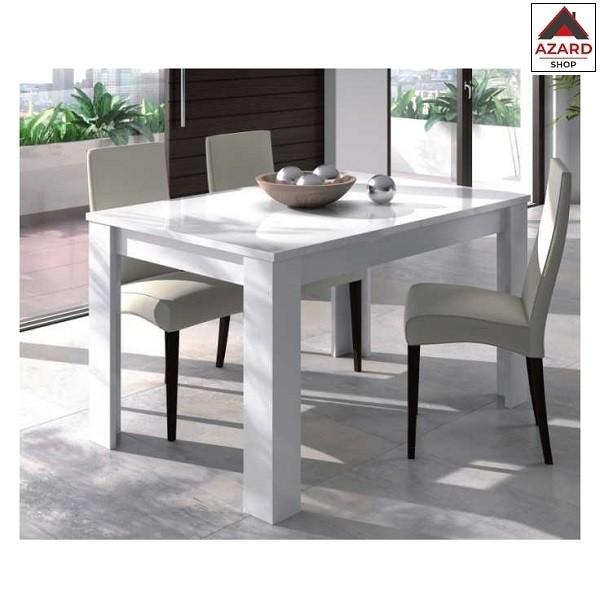 Tavolo Allungabile Legno Cucina Moderno Sala Pranzo Bianco Lucido Estensibile