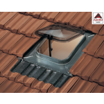 Lucernario per tetto con tegole cupola plastica fumè finestra mansarda vasistas