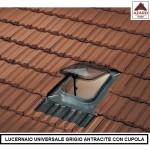 Lucernario tetto finestra moderno grigio per tegole piane cupola in plastica