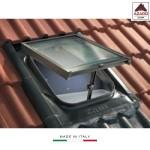 Lucernario tetto finestra moderno zincato per tegole piane cupola in vetro 45x57