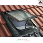 Lucernario tetto in vetro finestra zincato per  tegole piane mansarda cupola