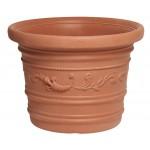 Vaso plastica festonato d. cm.50x38h prestige
