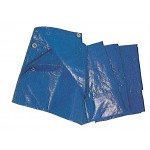 PZ 4 - telone polietilene standard c/occhielli blu mt.3x4