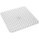 Gedy art.975353 tappeto doccia pvc geo cm.53x53 bianco antimuffa