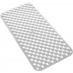 Gedy art.973671 tappeto vasca da bagno pvc bianco geo cm.36x71 antimuffa