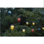 Catena luminosa cordoniera di lanterne colorate su filo 20 pezzi 8 cm x esterno