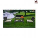Salotto giardino per esterno set arredo metallo divano poltrona salottino grigio