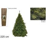Albero di natale 225 cm pino paris verde folto realistico apertura ad ombrello