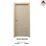 Porta interna a battente legno mdf laminato reversibile rovere sbiancato 210x80 cm