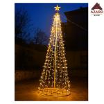 Albero di Natale luminoso 576 led luce calda con stella luci luminaria esterno