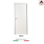Porta interna a battente legno mdf laminato reversibile bianca 210x80 cm