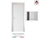Porta interna a battente legno mdf laminato reversibile frassino bianca 210x90