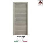 Porta interna a battente legno mdf laminato reversibile rovere grigio 210x90 cm