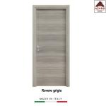 Porta interna a battente legno mdf laminato reversibile rovere grigio 210x80 cm